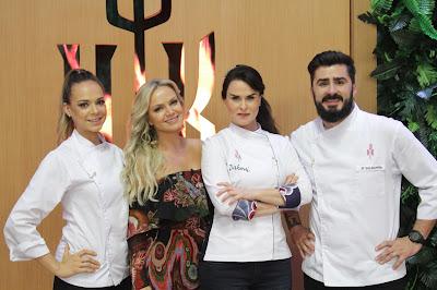 Eliana, Dahoui e os subchefs Zi Saldanha e Gilda Maria Bley - Crédito: Gabriel Gabe/SBT