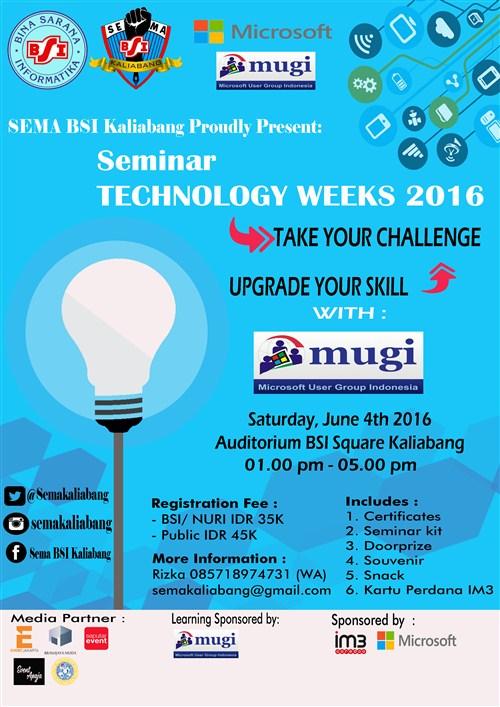 Seminar Technology Weeks 2016 di bekasi jakarta