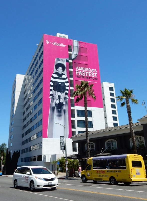 Giant T-Mobile billboard Sunset Strip