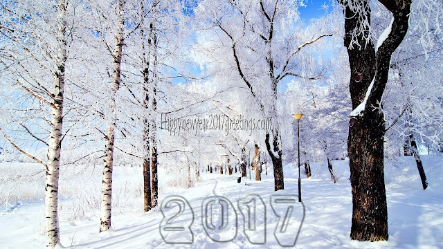 Happy New Year 2017 Ice Falling HD Background