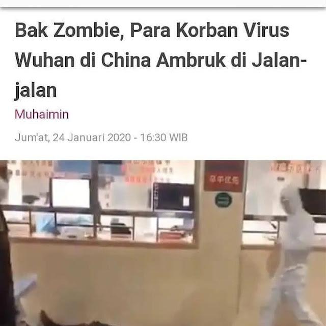 Virus Corona orang-orang seperti Zombi