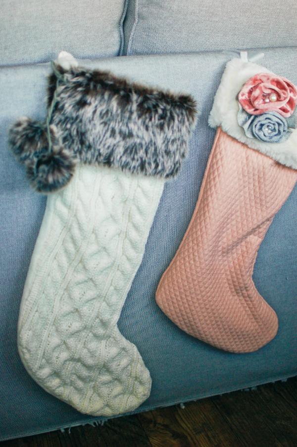 Glam Christmas stockings