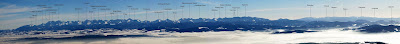 Zimowa panorama Tatr z Diablaka.