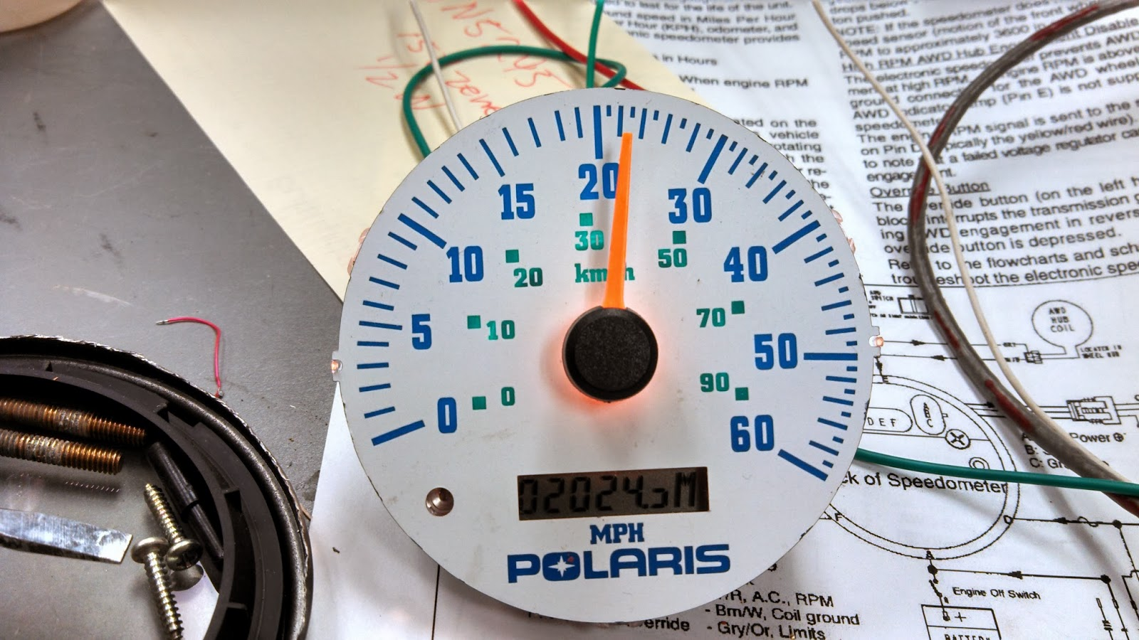 KA7OEI's blog: Repair of the speedometer on a Polaris