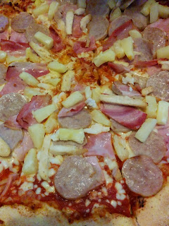 Pizza With Pineapple and way too much Meat!