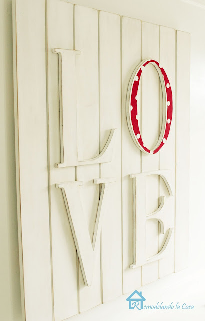 wooden love wall plaque for Valentines mantel