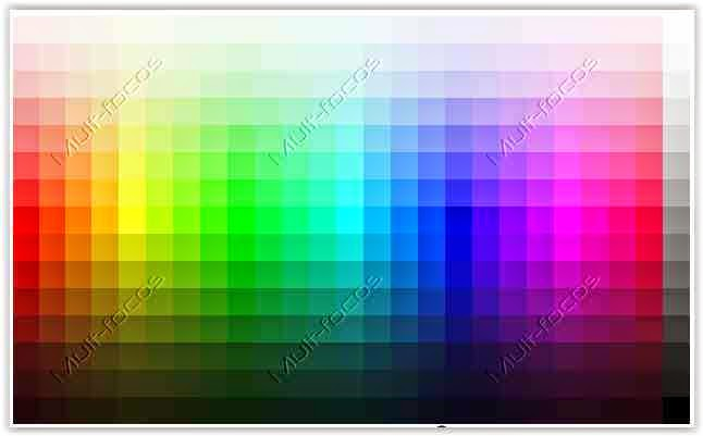 Cores HTML