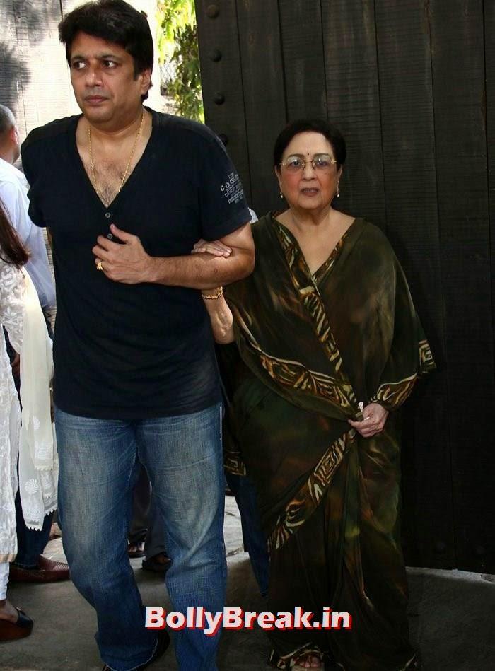 Tabassum, Celebs Visit Ravi Chopra's Funeral