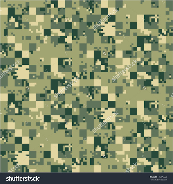 Digital Camouflage Vector Seamless Pattern