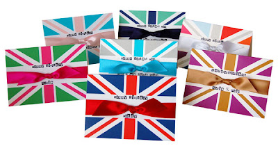 colourful union jack greeting cards