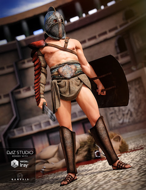 Thracian Gladiator Outfit for Genesis 3 Male