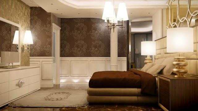 Dormitorio paredes elegantes