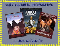 A marquee type poster showing a few Spanish language, cultural and authentic and very educational films available for the Spanish class