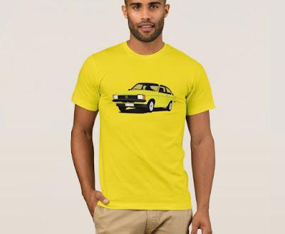 Opel Kadett C  Coupe t-paidat keltainen