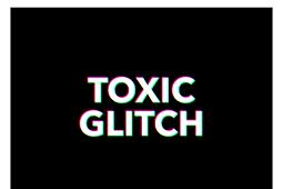 PSD Chữ hiệu ứng Glitch Effect