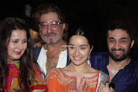 Shraddha Kapoor Shakti Kapoor and Padmini Kolhapuri at Inauguration Of Pandit Padharinath Kolhapure Marg Exclusive  29.JPG