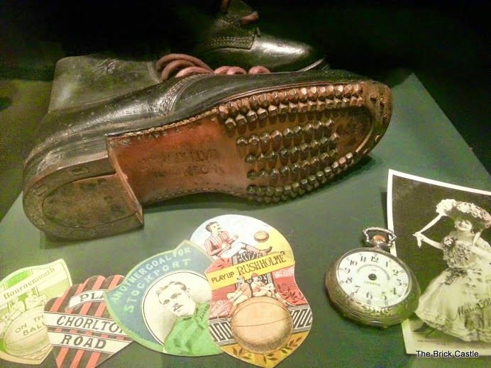 The National Football Museum at Urbis, Manchester Lockers from 1890's Hobnail boots image