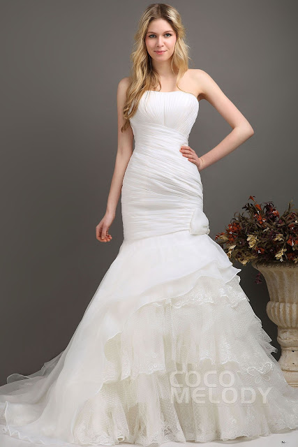 http://www.cocomelody.com/trumpet-mermaid-ivory-chapel-train-strapless-organza-wedding-dress-cwlt130e2.html