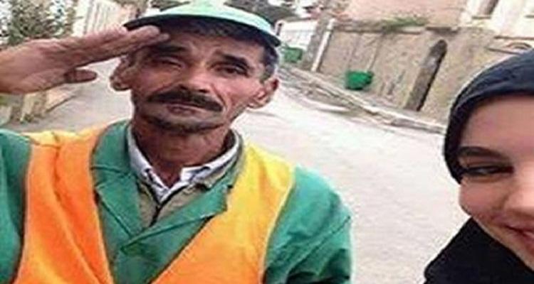 بالصور : شاهد ماذا حدث البارحة لعامل النظافة صاحب سيلفي الفخر مع إبنته