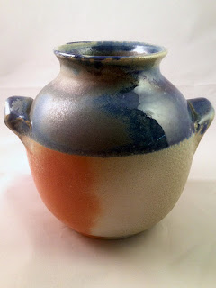 Soda Fired Pottery Vase by Lori Buff