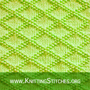 #KNITPURL STITCHES - King Charles Brocade stitch pattern
