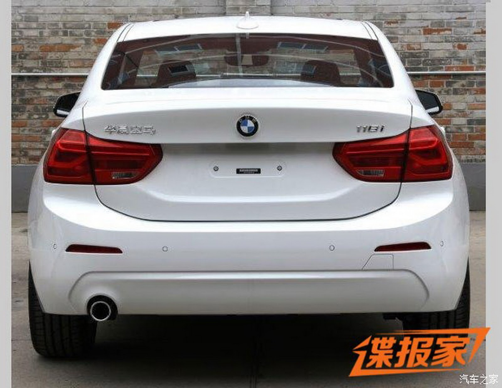 new photos of 2017 bmw 1 series sedan for china will get up to 231hp carscoops. Black Bedroom Furniture Sets. Home Design Ideas