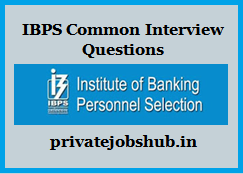 IBPS Common Interview Questions