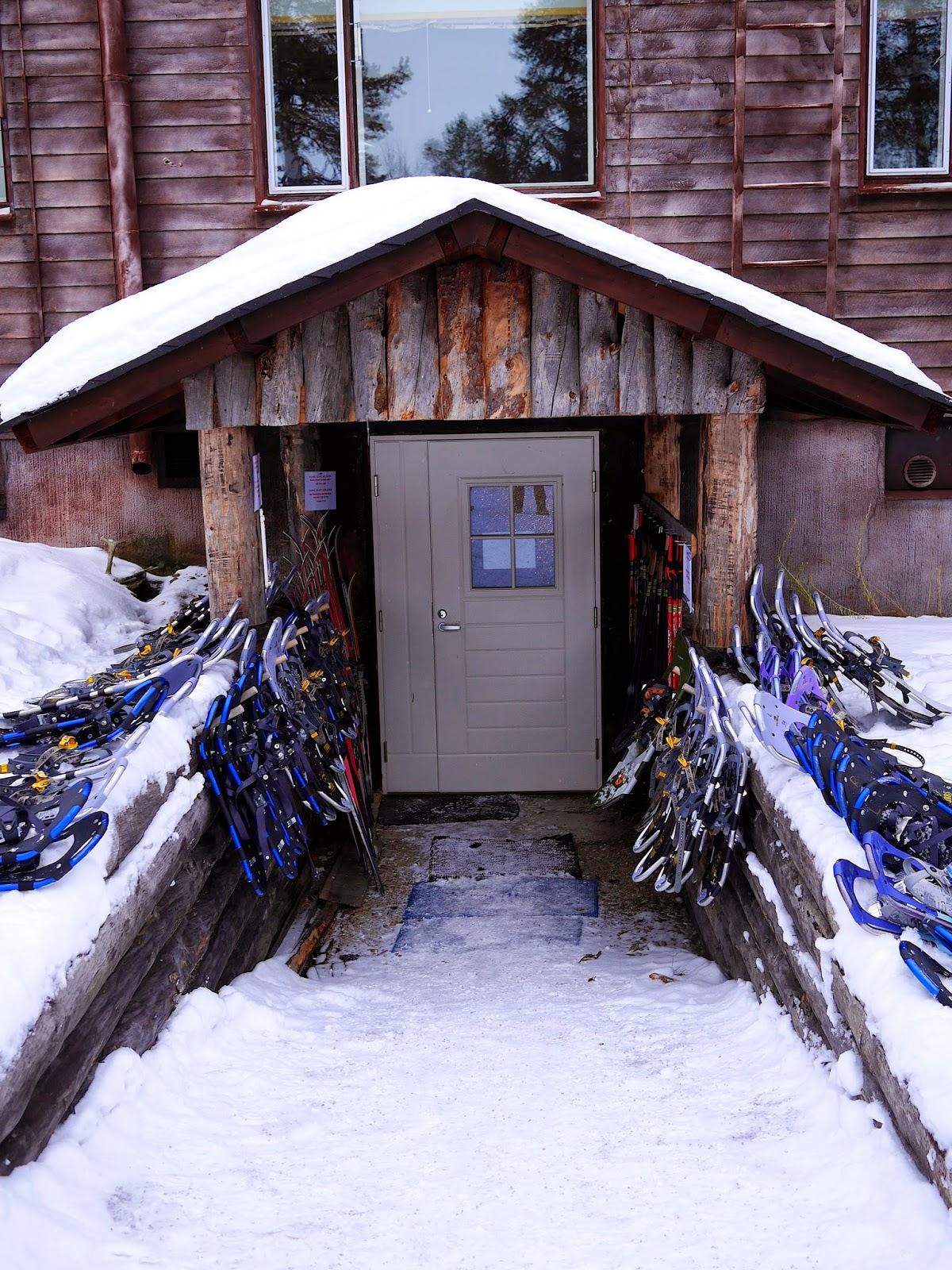 Snowshoes at Hotel Korpikartano, Finland