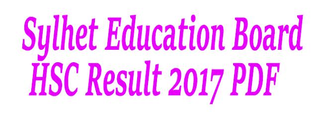 HSC Result 2017 Sylhet Education Board