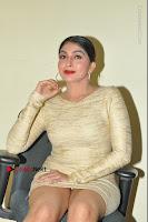 Actress Pooja Roshan Stills in Golden Short Dress at Box Movie Audio Launch  0076.JPG