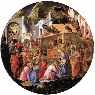 Adoração dos Reis Magos, Fra Angelico e Filippo Lippi