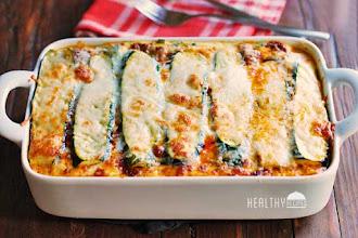 Lasagna cu dovlecei si carne de de vita