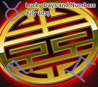 Lucky Days and Numbers for each zodiac sign for July 2017