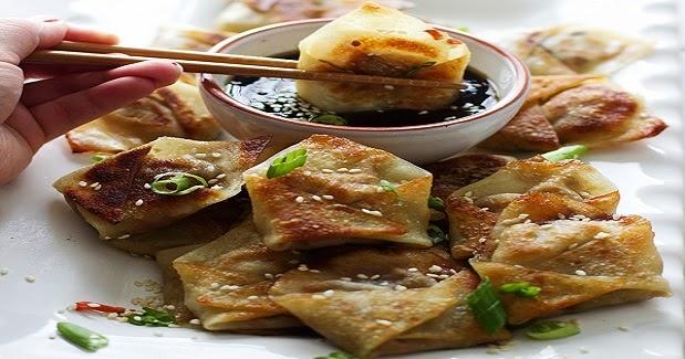 Easy Asian Dumplings With Sesame Hoisin Dipping Sauce Recipe - Kusina ...
