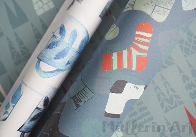 Geschenkpapier ©muellerinart