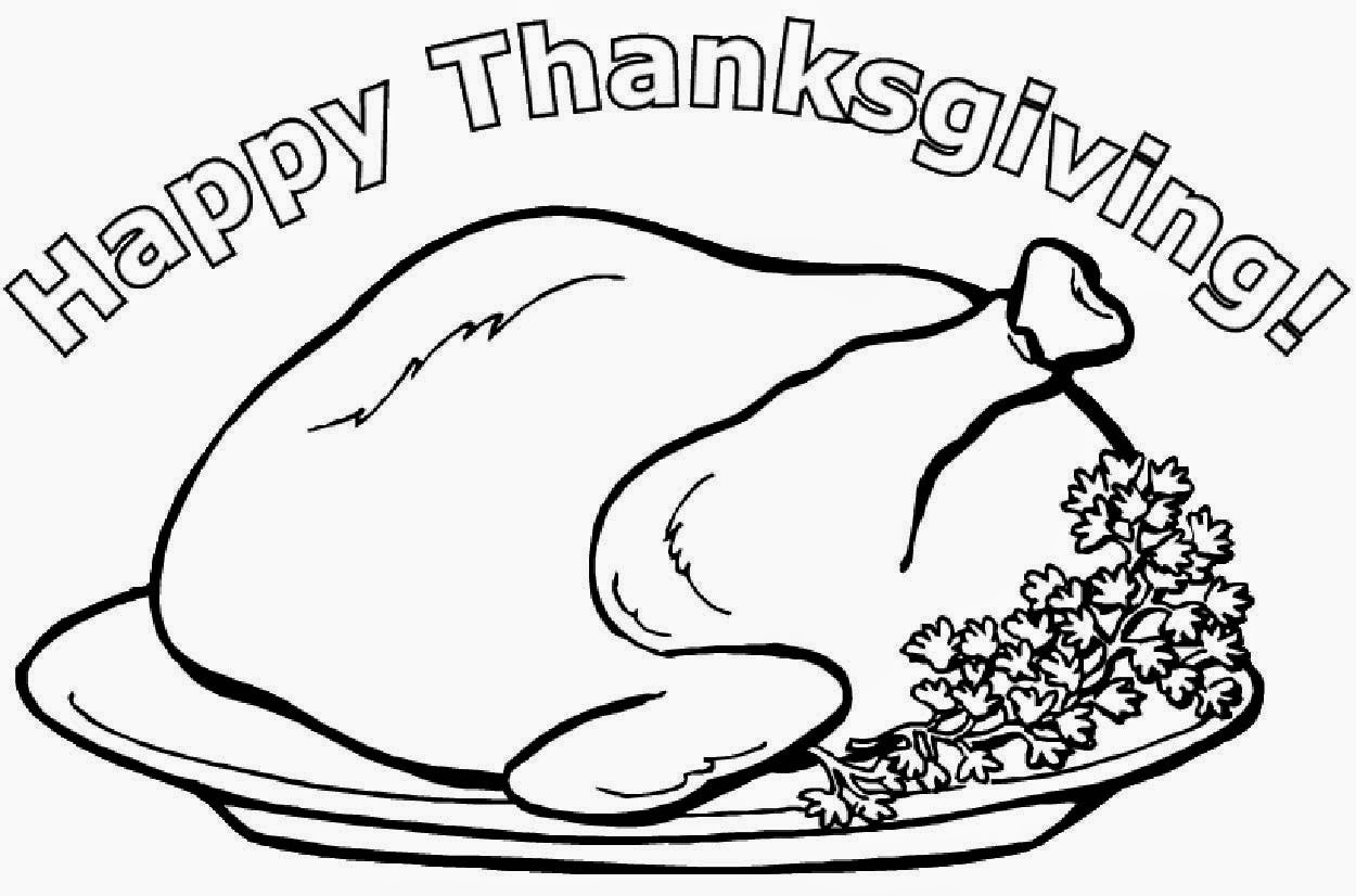 coloring pages cooked turkey - photo#21