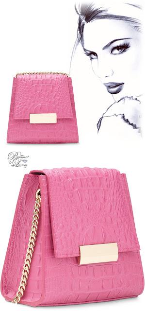 Brilliant Luxury ♦ Boudoir des Lubies Paris ~ Capucine Croco Bag #rose #fushia