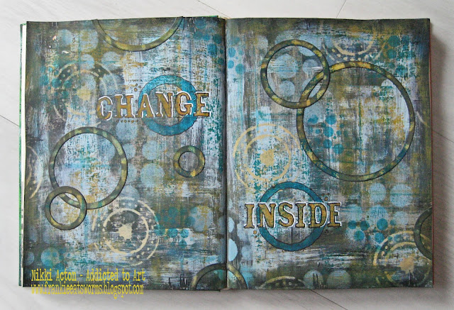 Seth Apter style journal page - Addicted to Art