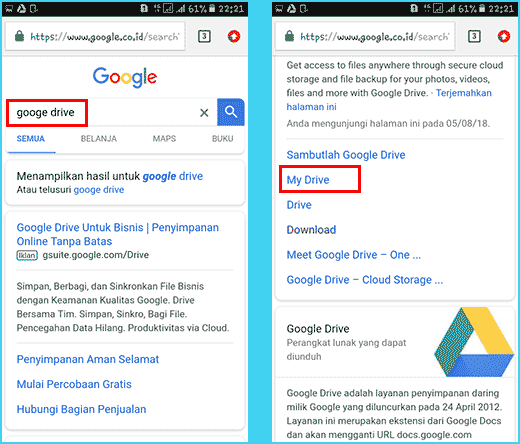 3 Cara Upload File Ke Google Drive Lewat Hp Android Laptop
