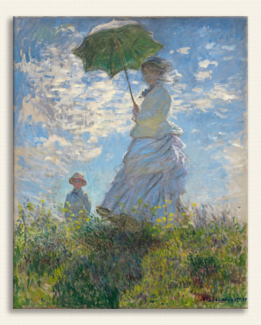 Claude Monet Şemsiyeli Kadın