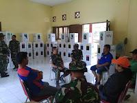 Dandim 0910 Malinau Pantau Logistik Pemilu di Kec Malinau Selatan