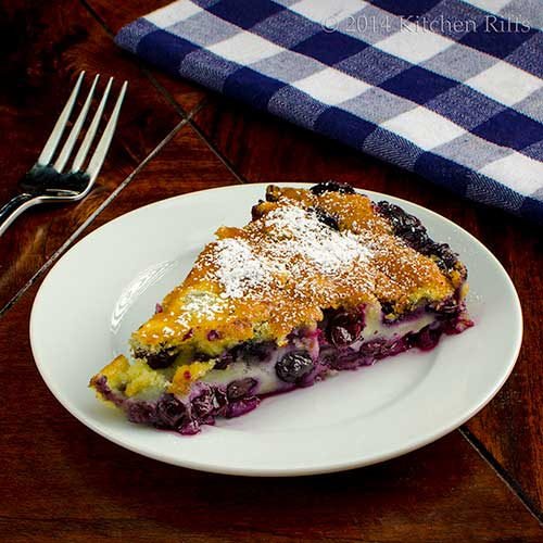Blueberry Flaugnarde (Flan)