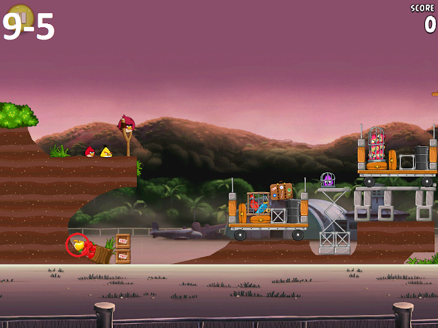 Angry Birds Rio - Airfield Chase 9-5
