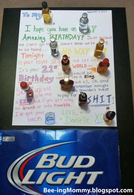 21 Birthday Poster Liquor Mad Lib Libs 21st