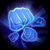 Fist Crack melakukan pukulan dengan cepat ke arah lawan memberika efek buruk 120/180 poin