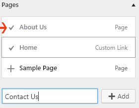 Creating pages and adding elements to menu WP