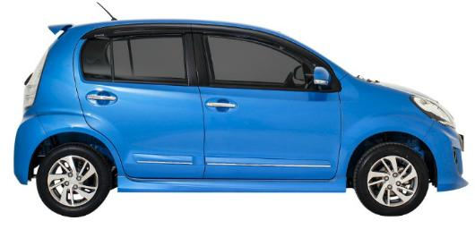 Daihatsu New Sirion 2015 tampak samping