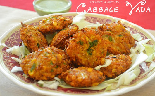 Cabbage Vada Recipe / Cabbage Vada / Cabbage Fritters Recipe / Easy Tea Time Snacks