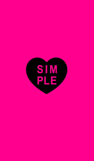 SIMPLE HEART SEAL(black pink)V.3