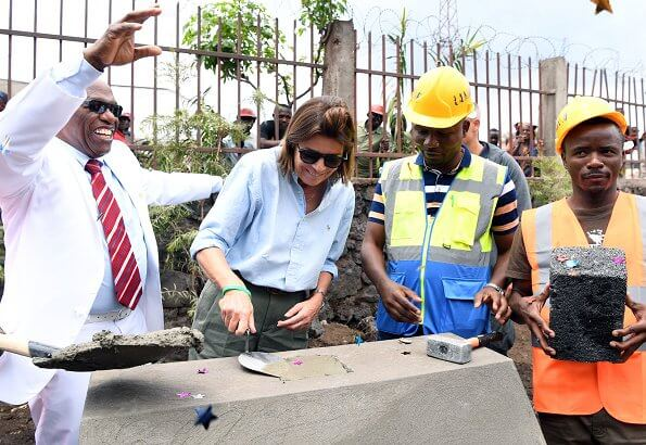 Princess Caroline launched the construction of a mother and child pavilion in Goma city of the Democratic Republic of Congo